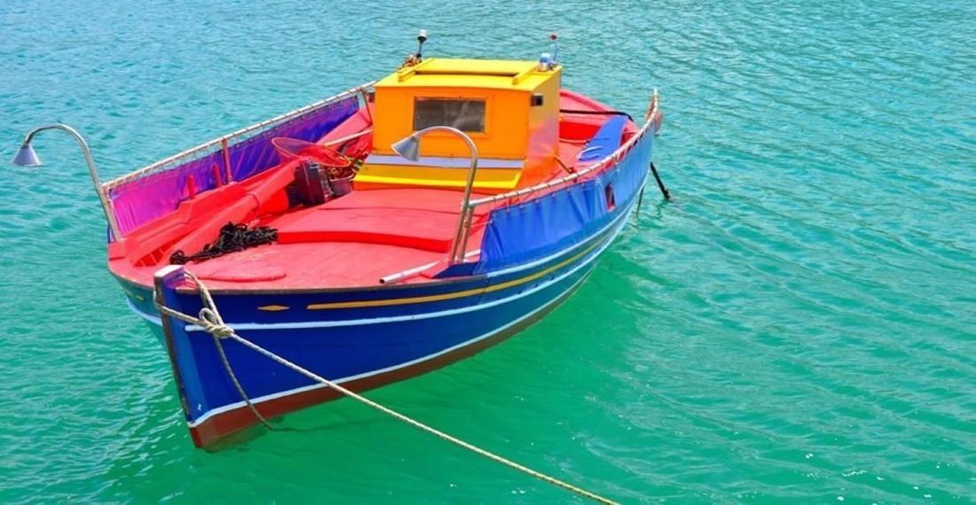 Traditional Greek Fishing Boat in Alonissos